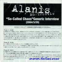 Alanis Morissette, So-Called Chaos, Generic Interview, WEA, PCS-677