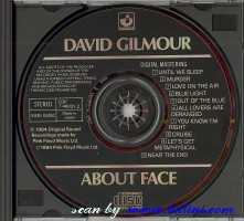 David Gilmour, About Face, EMI, CDP 7 46031 2
