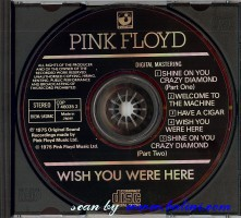 Pink Floyd, Wish you were here, EMI, CDP 7 46035 2