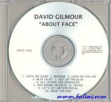 David Gilmour, About face, Sony, MHCP-1050/R