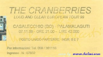 The Cranberries, Casalecchio, , 07-11-1999