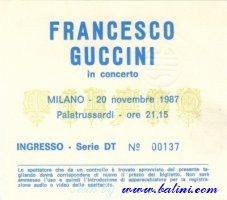 Francesco Guccini, Milano, , 20-11-1987