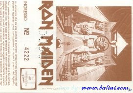 Iron Maiden, Milano, , 12-11-1984