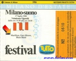 Marillion, Milano, , 17-07-1986