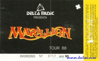 Marillion, Milano, , 26-01-1988