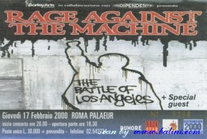 Rage Against the Machine, Roma, , 17-02-2000