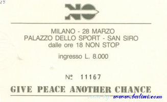 Various Artists, Give peace another chance, Milano, , 28-03-1984